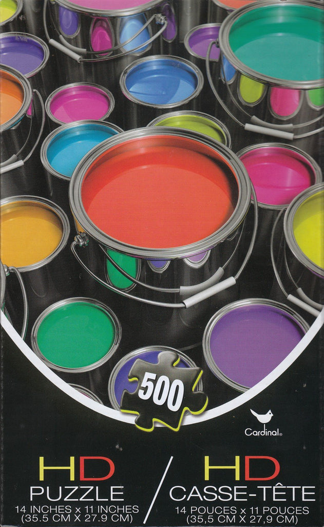 Colorful Paint Cans HD 500 Piece Puzzle