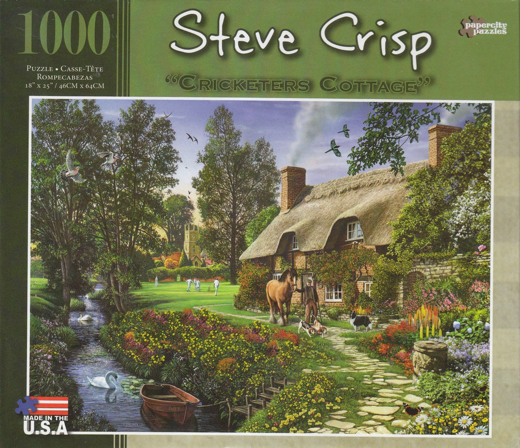 Cricketers Cottage 1000 Piece Puzzle