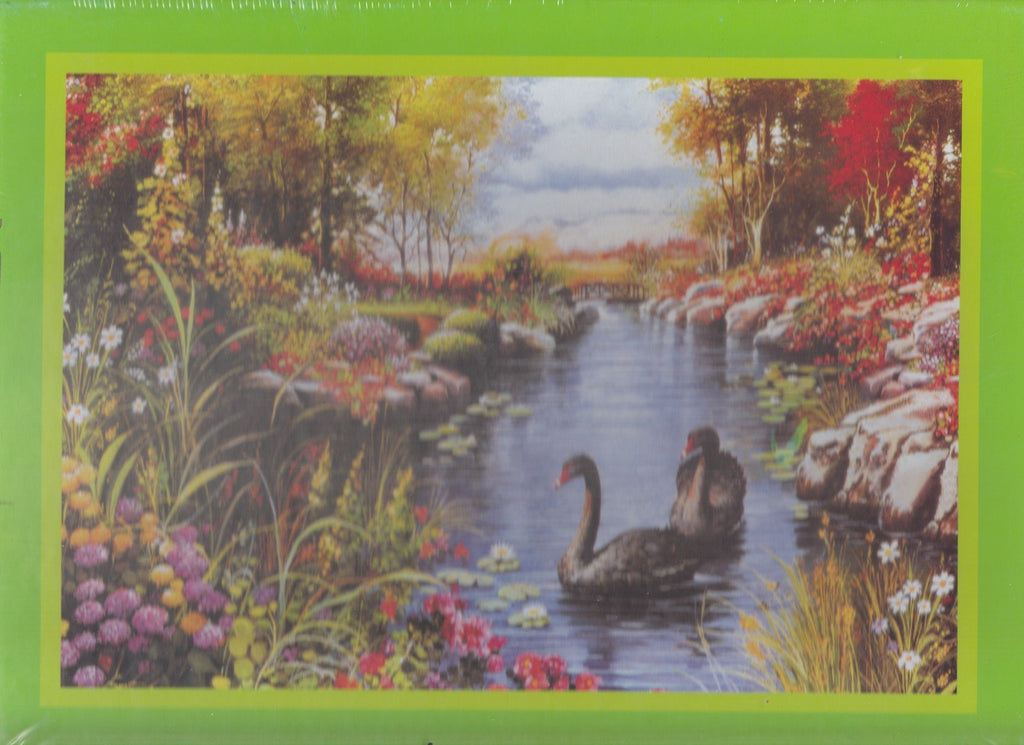 Geese in Stream 500 Piece Puzzle
