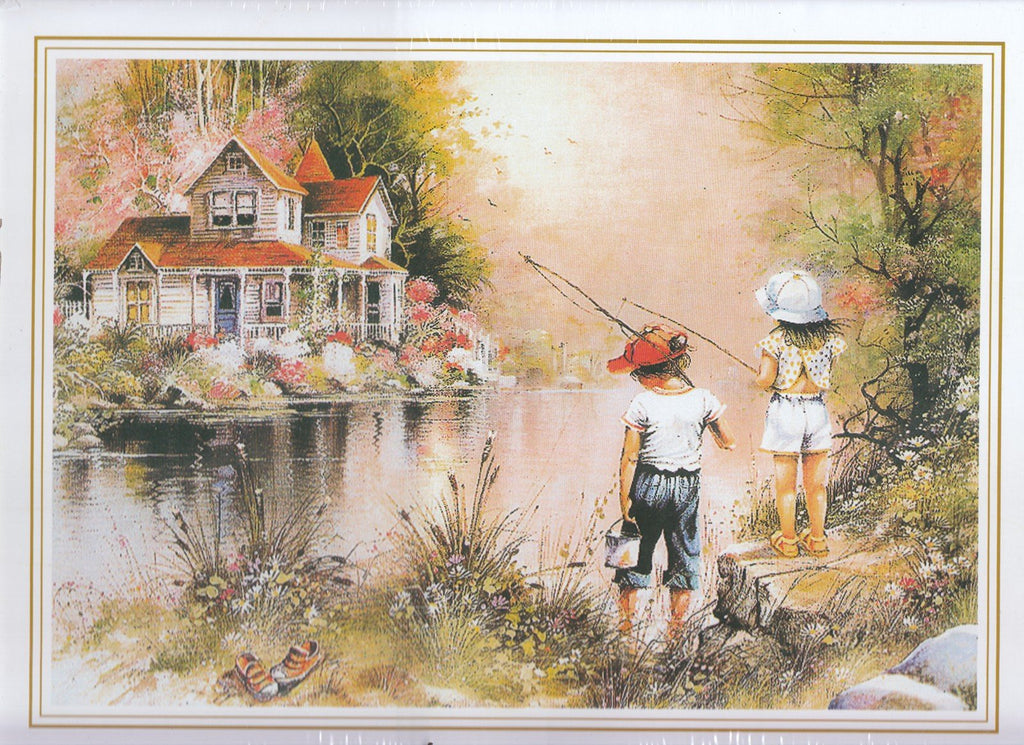 Children Fishing 500 Piece Puzzle