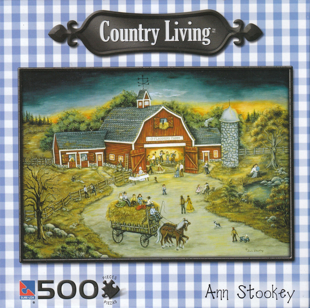 Barn Dance At O'Flannery 500 Piece Puzzle