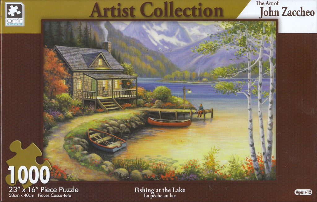 Fishing At The Lake 1000 Piece Puzzle
