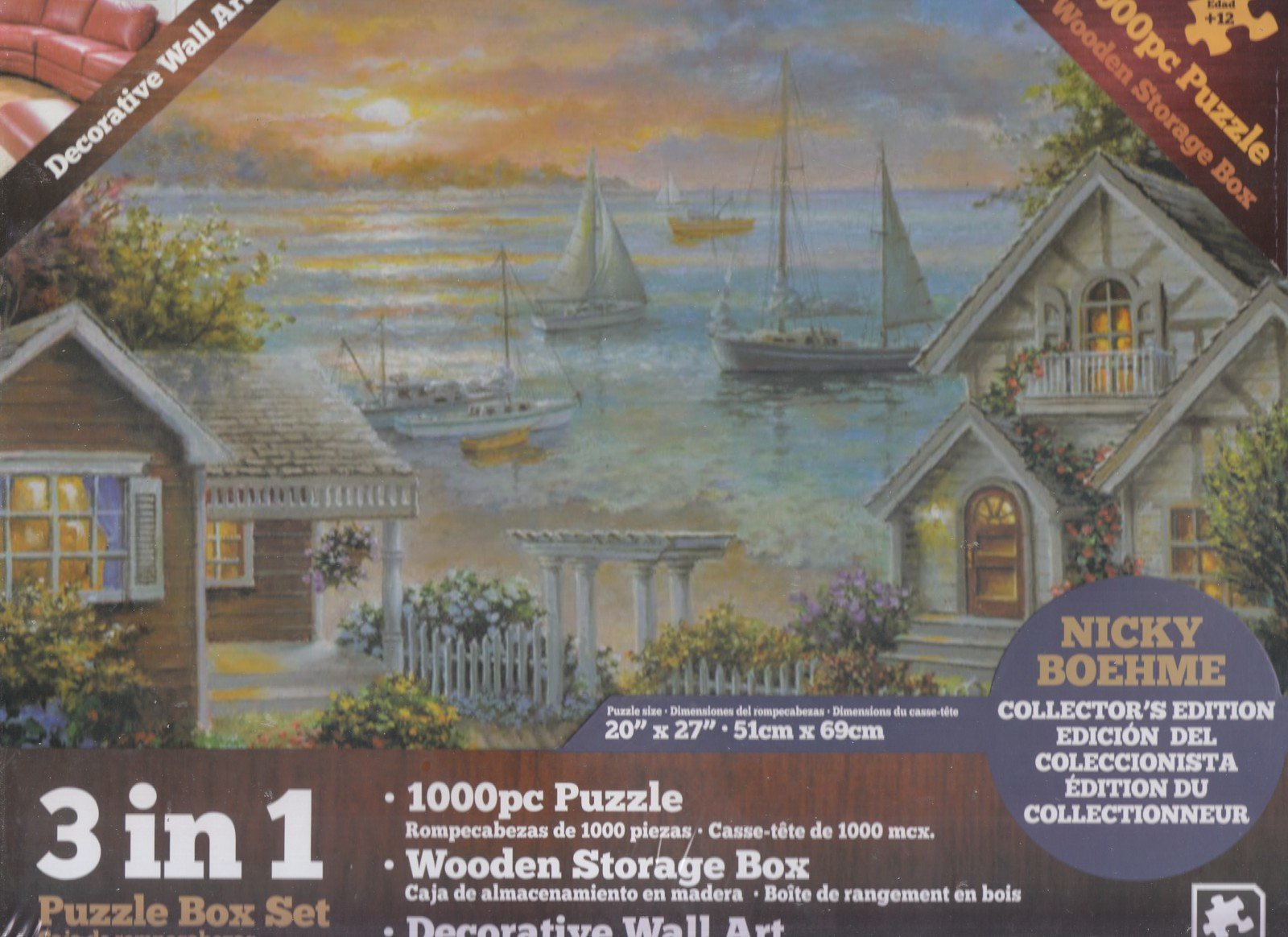 Newcastle Lobster Shed Maine Colorluxe 1000 pc Puzzle