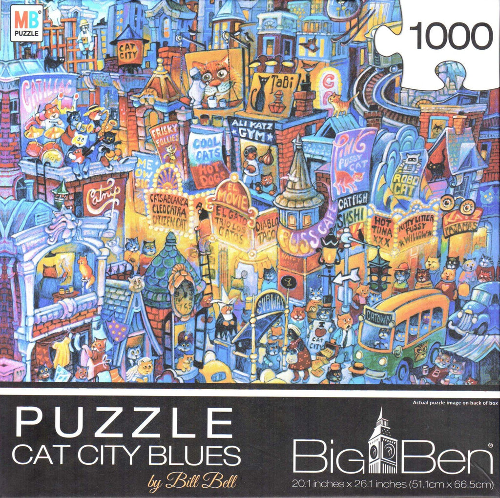 Cat City Blues 1000 Piece Puzzle