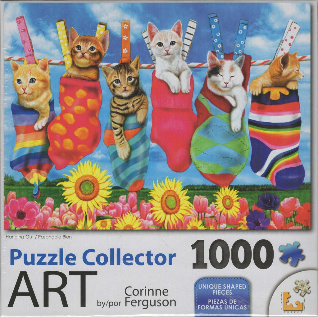 Puzzle Collector Art 1000 Piece Puzzle - Hanging Out