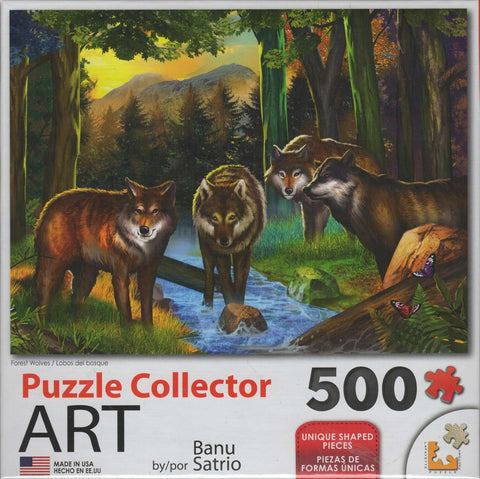 Puzzle Collector Art 500 Piece Puzzle - Forest Wolves