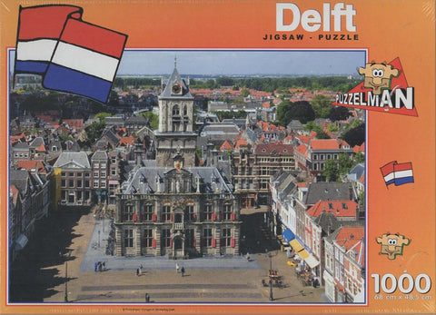 Puzzleman 1000 Piece Puzzle - City Hall Delft The Netherlands