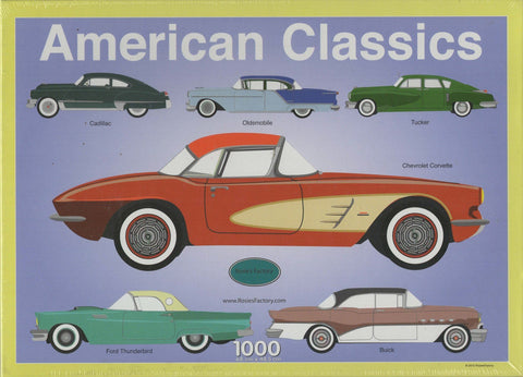 Puzzleman 1000 Piece Puzzle - American Classics By Rosies Factory