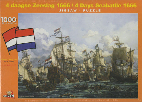 Puzzleman 1000 Piece Puzzle - 4 Days Seabatttle 1666 By Jan de Quelery