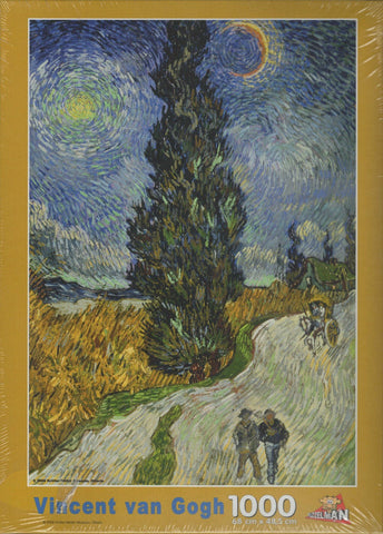 Puzzleman 1000 Piece Puzzle - Country Road in Provence by Night By Vincent van Gogh