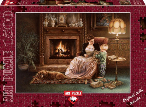 Serenity By The Fireplace 1500 Piece Puzzle