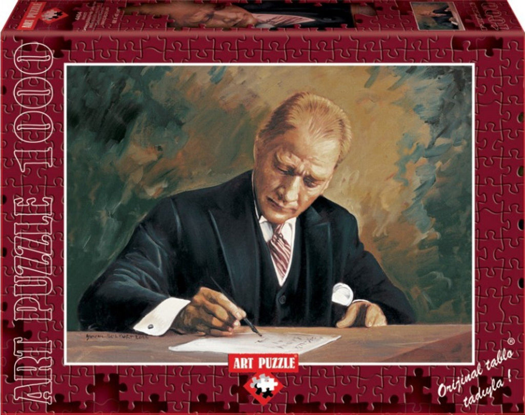 While Ataturk Works At Cankaya Mansion 1000 Piece Puzzle