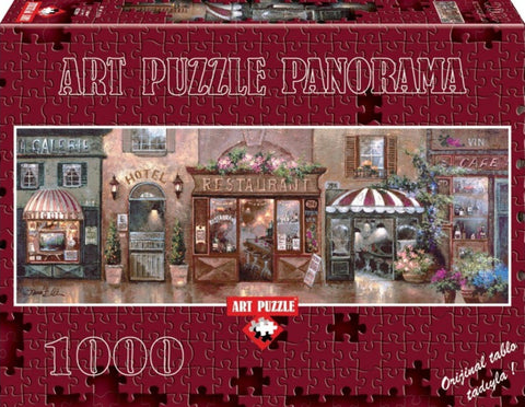 Cafe Walk I Panoramic 1000 Piece Puzzle