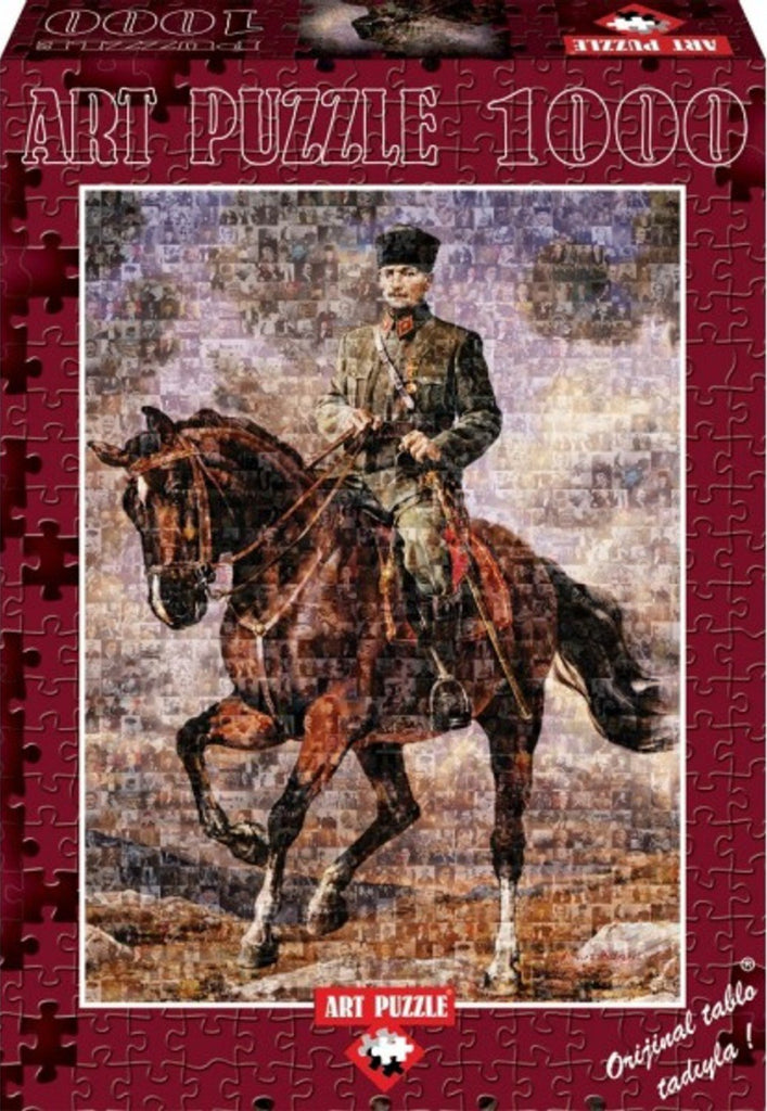 "Ghazi Mustafa Kemal With His Horse Named ""Sakarya"" 1000 Piece Puzzle"