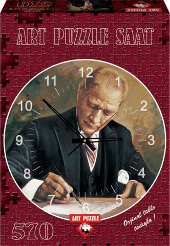 Ataturk Working At Cankaya Mansion 570 Piece Clock Puzzle