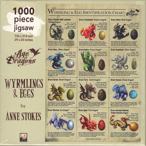 Wyrmlings & Eggs 1000 Piece Puzzle