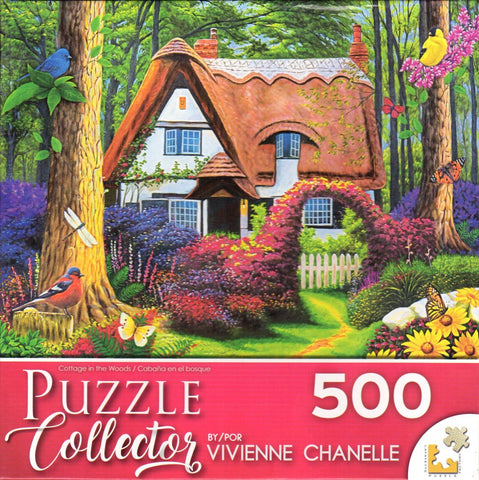 Puzzle Collector Art 500 Piece Puzzle - Cottage in the Woods