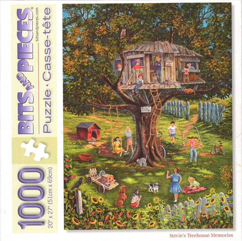 Stevie's Treehouse Memories 1000 Piece Puzzle
