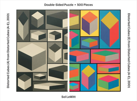 Sol Lewitt 500 Piece 2-Sided Puzzle (Museum of Modern Art)