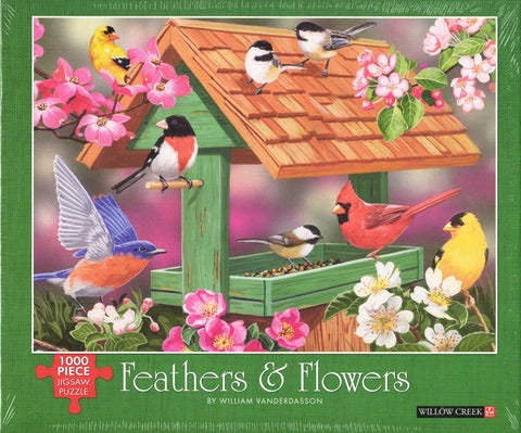 Feathers and Flowers 1000 Piece Puzzle