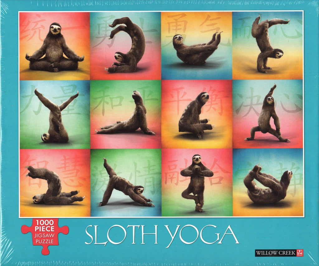 Sloth Yoga 1000 Piece Puzzle