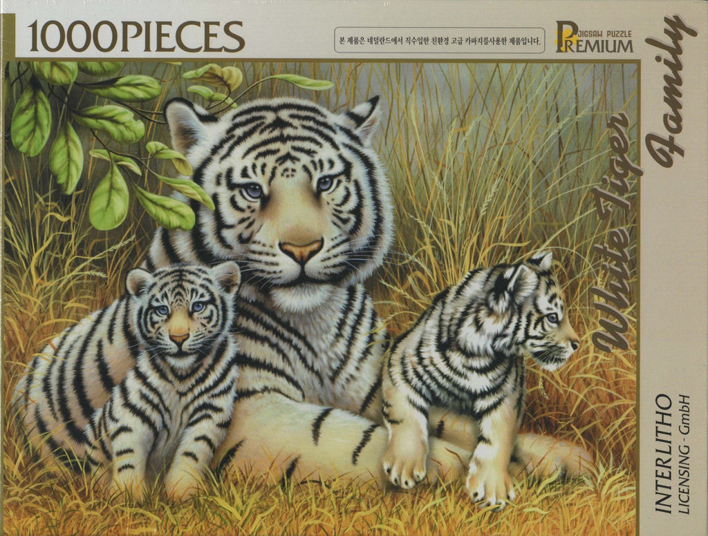 White Tiger Family 1000 Piece Puzzle