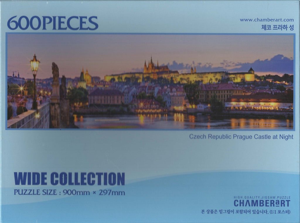 Czech Republic Prague Castle At Night 600 Piece Puzzle