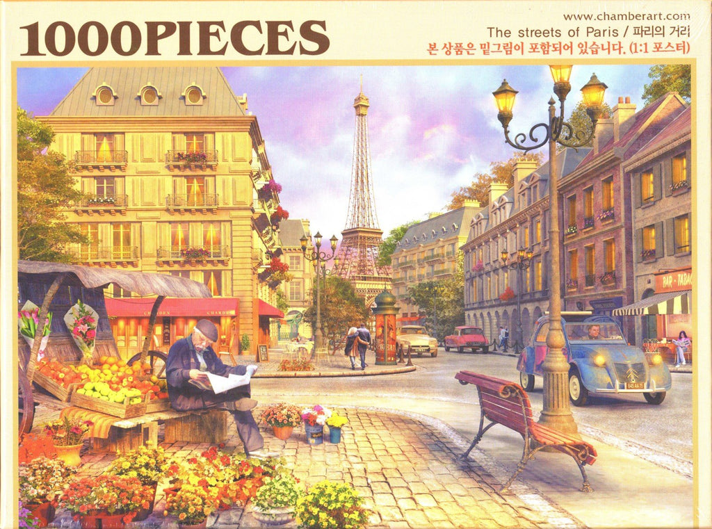 Streets of Paris 1000 Piece Puzzle