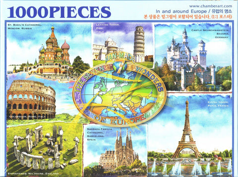 In and Around Europe 1000 Piece Puzzle