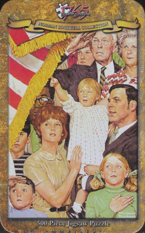 1765 Jigsaw - Norman Rockwell - Salute The Flag
