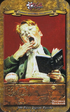 1765 Jigsaw - Norman Rockwell - The Sleepy Scholar