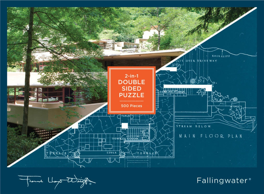 Frank Lloyd Wright Falling Wwater 2-Sided 500 Piece Puzzle
