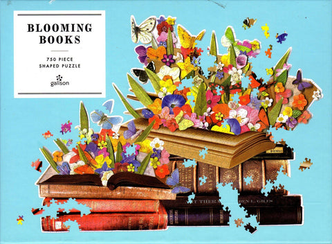 Blooming Books By Ben Gilles Shaped 750 Piece Puzzle