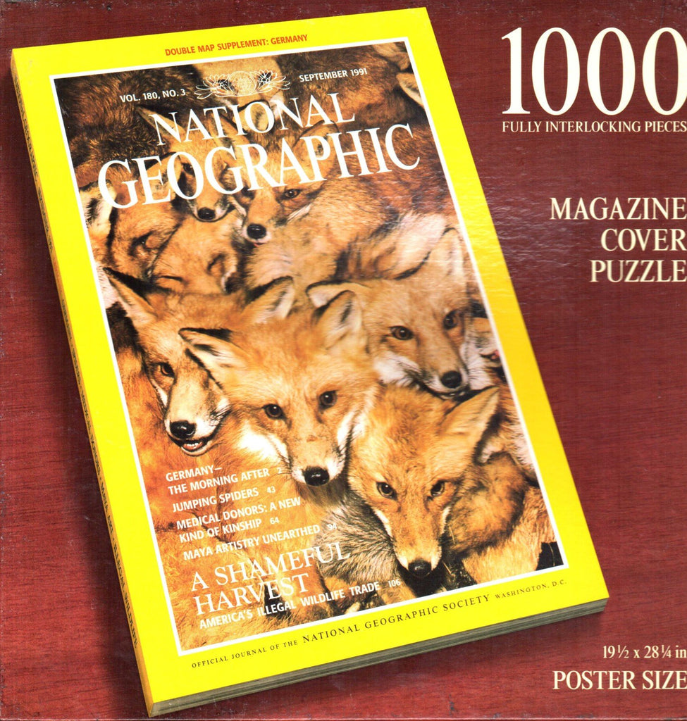 National Geographic Magazine Cover Red Foxes 1000 Piece Puzzle