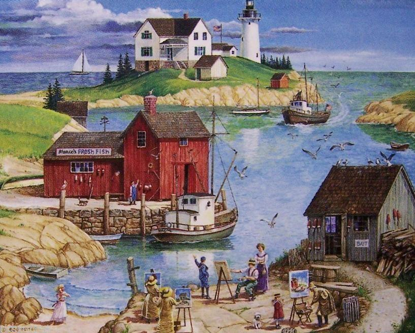 Art On The Bay 500 Piece Puzzle