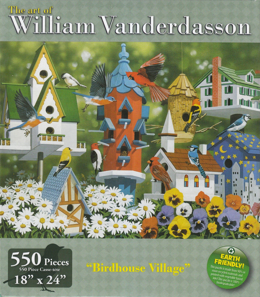 Birdhouse Village 550 Piece Puzzle