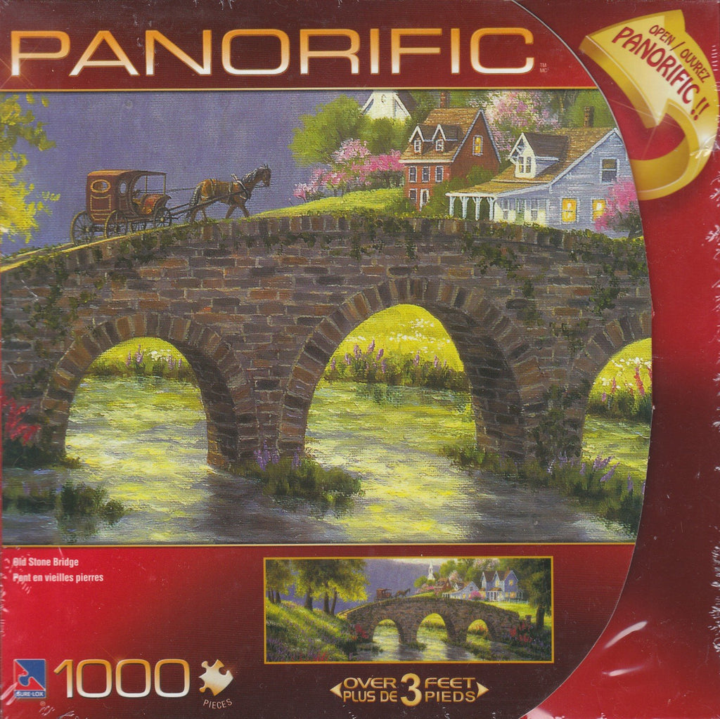 Panorific Old Stone Bridge 1000 Piece Puzzle