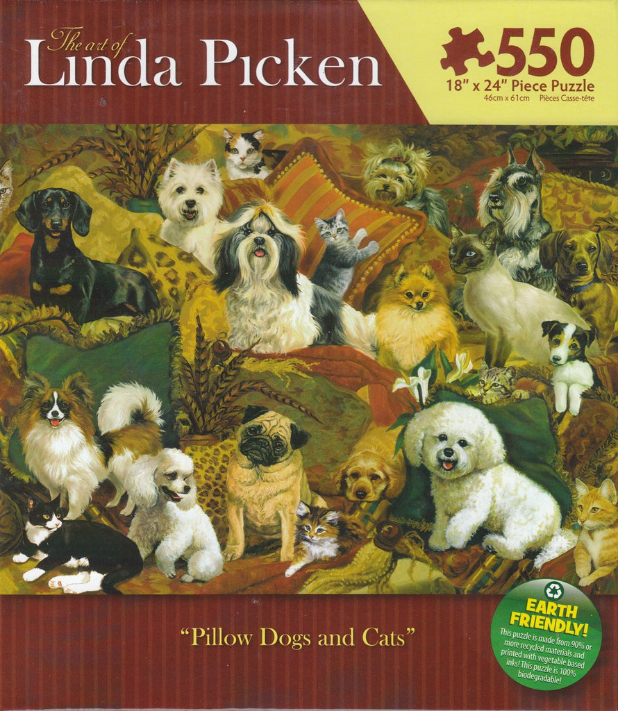 Pillow Dogs and Cats 550 Piece Puzzle