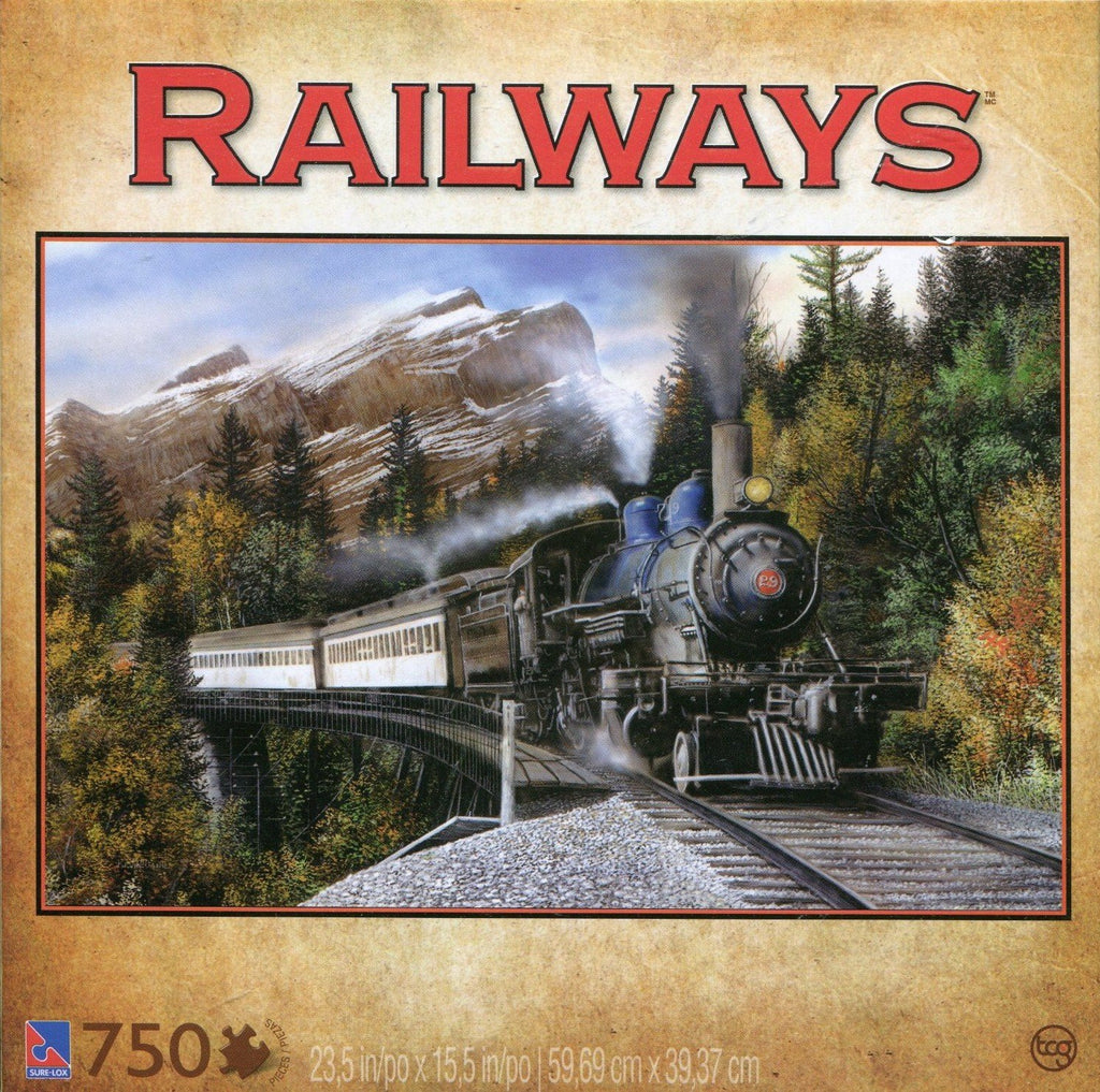 Railways Mountain Pass 750 Piece Puzzle