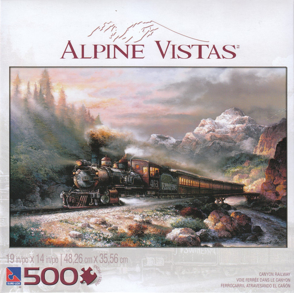 Alpine Vistas: Canyon Railway 500 Piece Puzzle