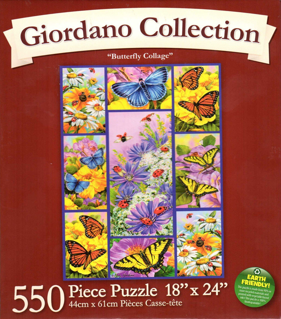 Butterfly Collage 550 Piece Puzzle