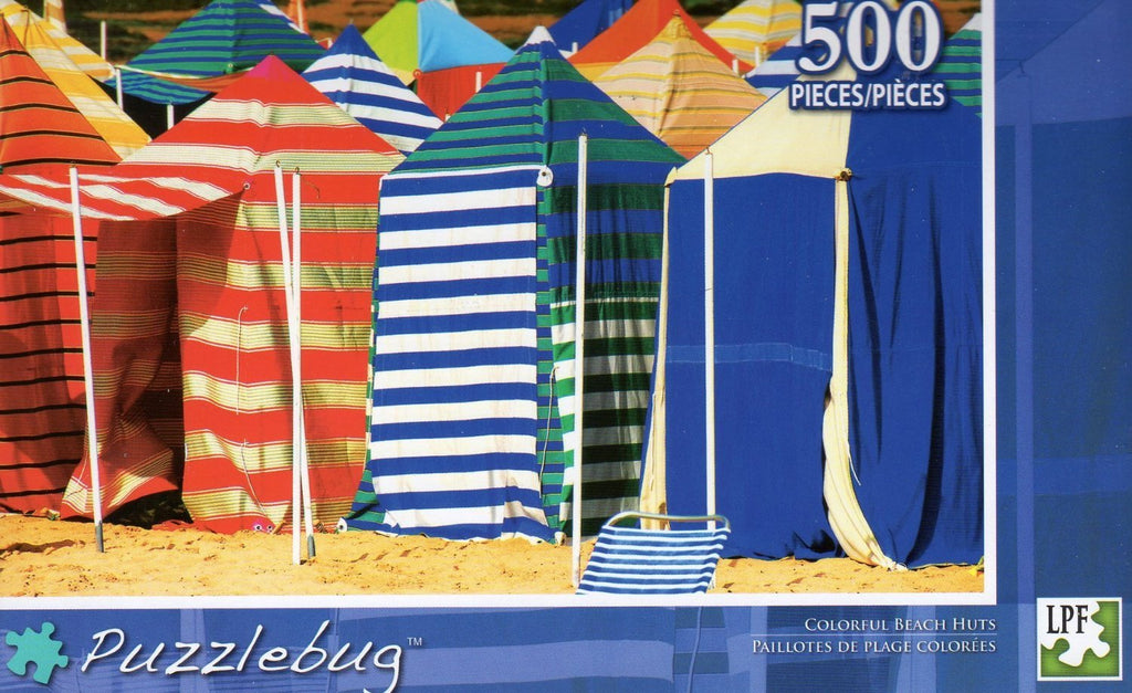 Puzzlebug 500 - Colorful Beach Huts