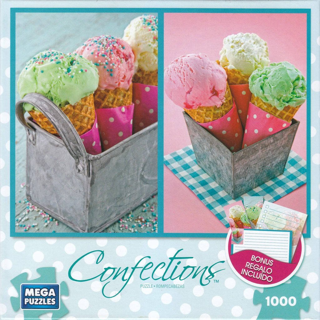 Ice Cream Cones in a Metal Basket 1000 Piece Puzzle