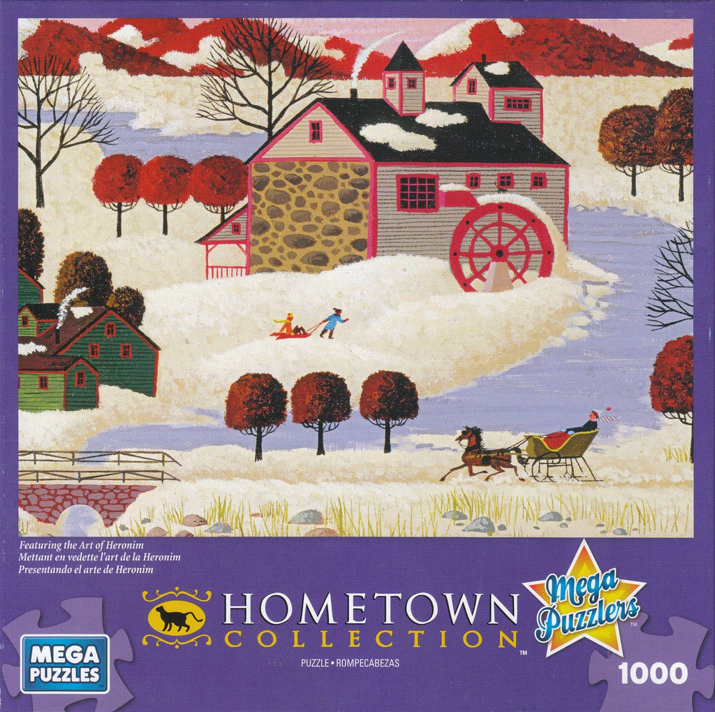 Hometown Collection: Winter in Maine 1000 Piece Puzzle