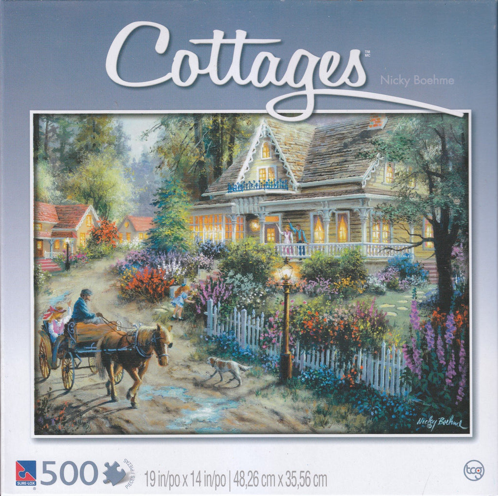 Cottages - Country Greeting 500 Piece Puzzle