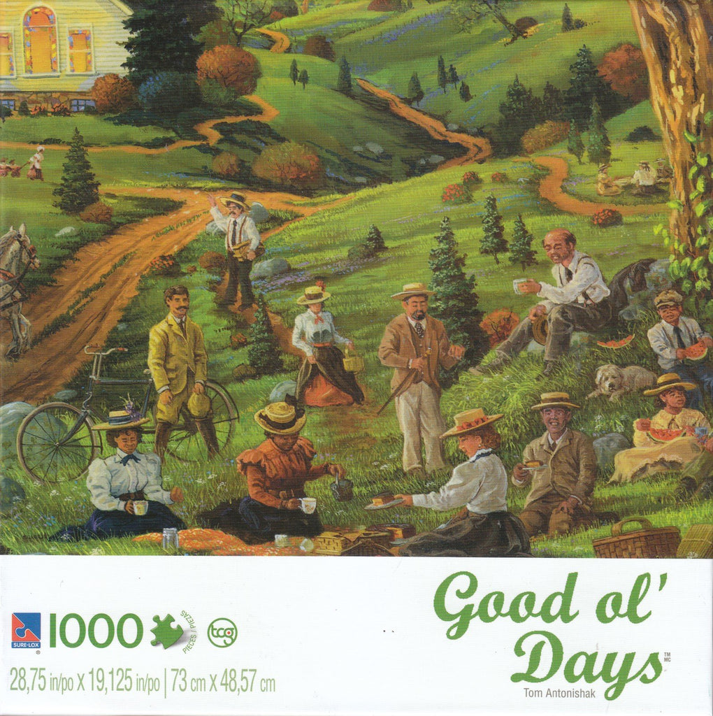 Church Picnic 1000 Piece Puzzle