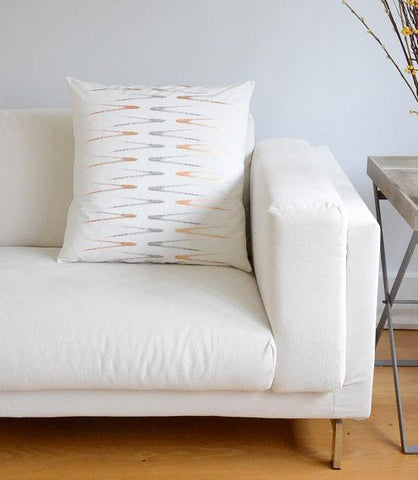 Evergreen Abstract Rose Gold & Grey Ivory Print Cushion Cover
