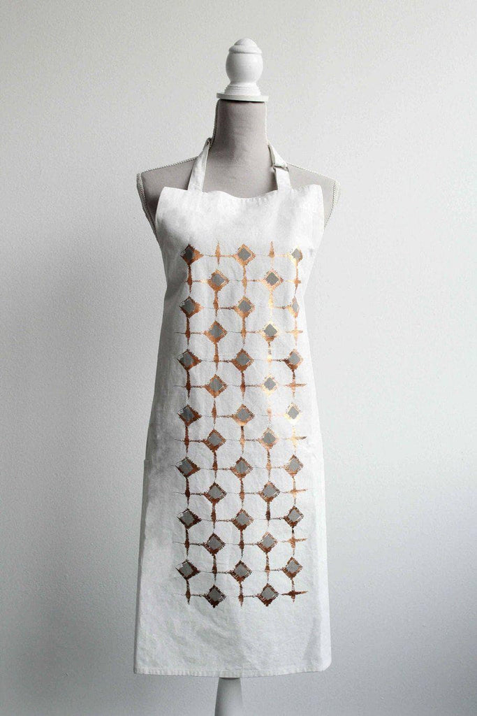 Abstract Ostrich Block Print Apron
