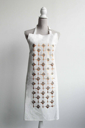 Abstract Signature Block Print Apron