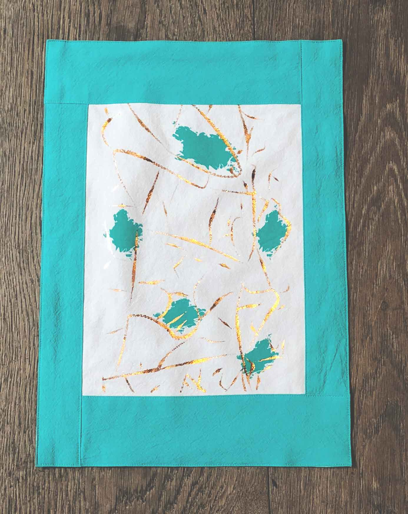 Blossom Aqua and Ivory Placemat
